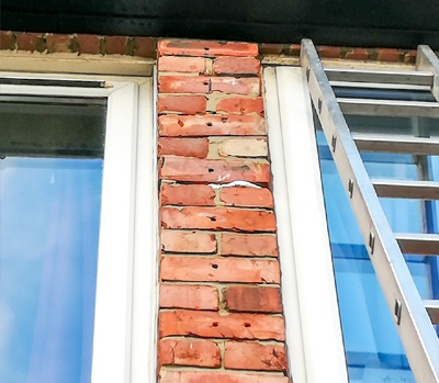 Brick pillar movement is a sign of failing wall ties - Rem-tie Ltd in North East, Newcastle, Durham, Sunderland, North Shields.