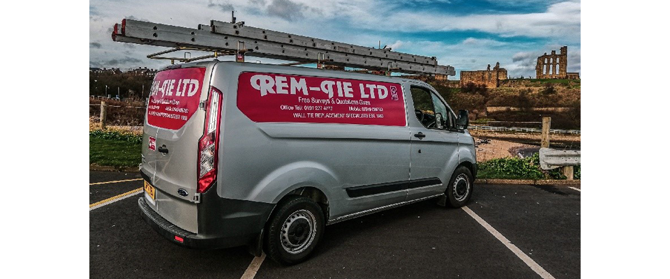 Rem Tie Wall Tie Replacement Specialists Van in the North East, Newcastle, Durham, Sunderland, North Shields.