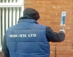 Wall Tie Replacement - insert foam - Rem-tie Ltd in North East, Newcastle, Durham, Sunderland, North Shields